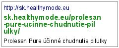 http://sk.healthymode.eu/prolesan-pure-ucinne-chudnutie-pilulky/
